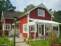 Another red house. Think it would need to be mellowed with some gray mixed into it.