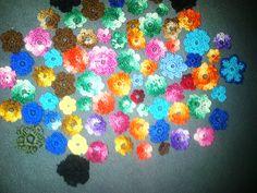 Más flores al crochet. Lo mas simple!