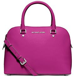 Michael Michael Kors Cindy Medium Dome Satchel Fuchsia >>> Continue to the product at the image link. (This is an Amazon affiliate link)