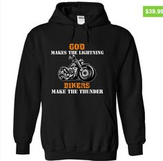 Whenever you are burning with curiosity, check it out here: https://www.sunfrog.com/LifeStyle/God-Makes-The-Lightning-Bikers-Make-The-Thunder-Black-qxcu-Hoodie.html?54542   Search bar in the site will help you find out your favourite shirts if you dont like this one. Share with friends, it will be better to get it together #motorcycle   #biker
