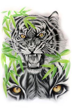Тигр d nail artist - Nail Art Lion Head Tattoos, Full Arm Tattoos, Wolf Tattoos, Animal Tattoos, Dragon Tattoos, Hand Tattoos, Small Tattoos, Sleeve Tattoos, Tiger Artwork