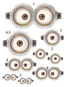 plantillas de ojos de minions - Buscar con Google