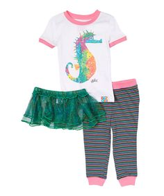 Look at this Eric Carle Sea Horse Tutu Pajama Set - Infant, Toddler & Girls on #zulily today!
