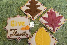 Thanksgiving and leaves sugar cookies  www.etsy.com/shop/LovinOvenCookies