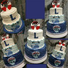 Buttercream and fondant  #sweetartscreations meet and greet nautical #cake @ambersweetarts www.facebook.com/sweetartscreationsllc