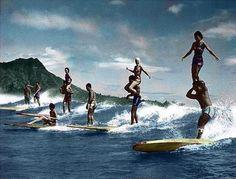 surf decor hawaiian decor hawaiian art surf board surf art Party Wave BIG Old Hawaii surf decor Art Hawaiian Decor, Hawaiian Art, Vintage Hawaiian, Surf Decor, Hawaii Surf, Sup Surf, California Surf, Vintage Surf, Art Party