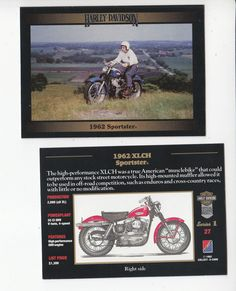 The card is from the Harley-Davidson Series 1 set from Collect-A-Card Corporation, 1992. The card back is in ENGLISH and includes great facts and specifications for this bike and includes a 2nd (different) full-color picture on the card back. | eBay!