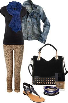 A fashion look from March 2013 featuring cotton shirts, denim jacket and brown corduroy pants. Browse and shop related looks. Leopard Pants, Butter London, Polyvore Fashion, Madewell, Winter Fashion, Casual Outfits, Shoe Bag, My Style, Casual Fridays