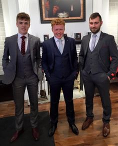 All dressed up and nowhere to go!! Three of our younger staff members Clerkin, Hampson and the Gooch were on modelling duties showing off 3 new arrivals which landed in this weekend just in time for the upcoming August Grads/Debs!! The lads haven't been asked to any Debs yet. Ladies.........any takers out there??!