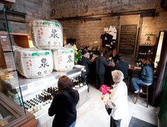 Ontario Spring Water Sake Company - Take a break at the Distillery and order the sake tasting. Spring Water, Distillery, Ontario, Toronto, Top, Mineral Water, Crop Shirt, Shirts