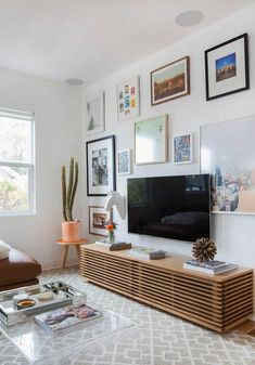 Trendy Living Room Tv Wall Decor Ideas Tips Home Living Room, Living Room Designs, Tv On Wall Ideas Living Room, Living Room Decor Tv, Bedroom Decor, Small Living Room Ideas With Tv, Wall Cabinets Living Room, Bedroom Tv Wall, Living Room Prints