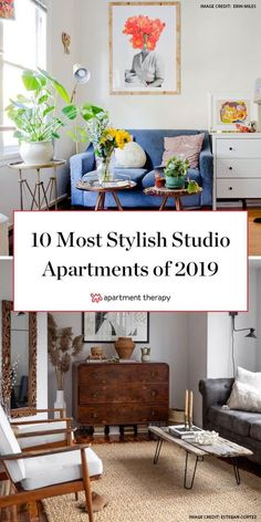 These 10 small studio apartments are the most stylish we saw this year! The renters and homeowners of these small spaces were able to design both a functional AND stylish home. Small Apartment Interior, Apartment Balcony Decorating, Apartment Living, Apartments Decorating, Apartment Ideas, Apartment Therapy, York Apartment, Apartment Layout, Living Rooms