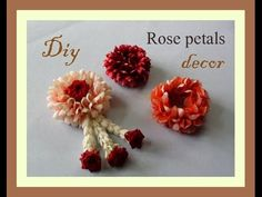 How to String Rose Petals garland How To Make Garland, How To Make Paper Flowers, Paper Flowers Diy, Real Flowers, Fabric Flowers, Garland Making, Flower Ornaments, Flower Garlands, Flower Decorations