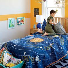 Kids Blue Solar System Bedding | The Land of Nod
