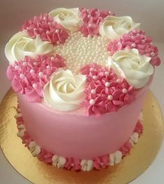 Trendy cupcakes ideas for girls birthday frostings Cake Decorating Piping, Cake Decorating Designs, Cake Decorating Videos, Cake Decorating Techniques, Cake Designs, Cookie Decorating, Rodjendanske Torte, Buttercream Flower Cake, Occasion Cakes