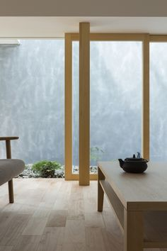 Sliding window at Kusatsu House, Japan by ALTS Design Office