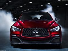 2014 Infiniti Q50 Eau Rouge Concept. this thing looks likes a beast from the front. dang!