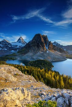 Mount Assiniboine, Canada; photo by .piriyaphoto