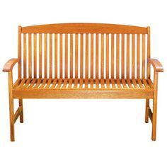 Achla Classic Slat Style Slat Style Patio Bench OFB-07 Natural Finish