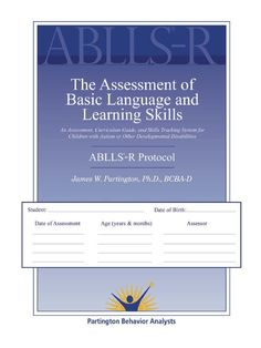 ablls-r Skills To Learn, Learning Skills, Life Skills Classroom, Behavior Analyst, Developmental Disabilities, Career Success, Children With Autism, School Lessons, Teacher Resources