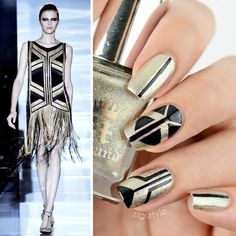 Loving these nails inspired by one of Gucci's runway collections.