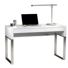 Modern Glass Top Writing Desk