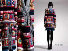 Go-Go-Granny Square Chic Coat