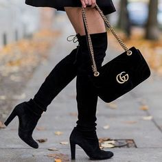 On the list 🎁  gucci  streetstyle Black Suede Boots ba98a329d94