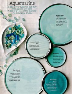 Thinking about painting my entry foyer one of these beautiful shades of blue.