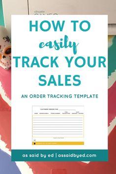 sales tracker, increase sales, increase business profits, silhouette, vinyls, diy, business tips, entrepreneur tips, side hustle