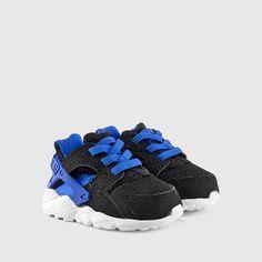 Nike - Toddler Huarache Run (Black | White | Lyon Blue) - Infant - Kids