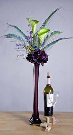 love how tall these vases are just not the purple instead clear glass would be best with fairy lights inside :)