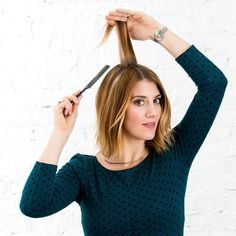 This Is the 1 Trick You Need to Make Every Hairstyle Look Better via Brit + Co Heatless Hairstyles, Hairstyle Look, Curled Hairstyles, Straight Hairstyles, Bombshell Curls, Back Combing, Voluminous Hair, Cut Her Hair, Hair Looks