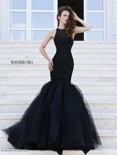 Sherri Hill 32095 Mermaid Dress with Low Back