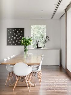 dream dining room chairs. love the wood legs and the simple table. yes!