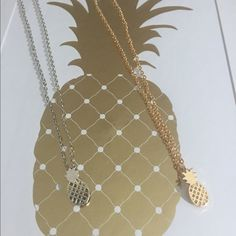 Pineapple necklace Brand newPineapple necklaces Choose from 14K gold plated or silver2 available in each                                                                                 Bundle discount availableNo tradesNo offsite transactions Bella B Boutique Jewelry Necklaces