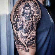 Shiva by Lilbtattoo #Lilbtattoo #blackandgrey #shiva #tattoooftheday