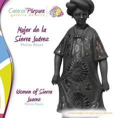 Mujer de Sierra Juarez. Matias Reyes. Disponible para su venta en Caracol Púrpura