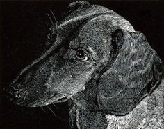"""Dr. Watson"" by James Lorigan - 2011 wood engraving image size 4""x5"""