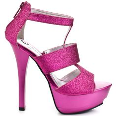 ZMAN127 OUT LG Ratio heels Pink Glitter brand heels Michael Antonio