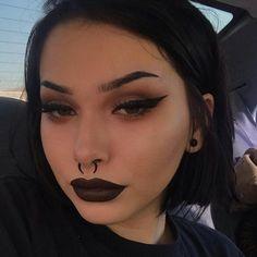 Piercing septum girl eyebrows 26 Ideas for 2019 Makeup Goals, Makeup Inspo, Makeup Art, Makeup Inspiration, Makeup Tips, Beauty Makeup, Makeup Ideas, Makeup Products, Dark Makeup