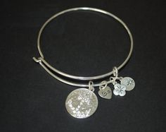 FREE SHIPPING Charm Bangle Bracelet Silver Anchor by StringofLove, $10.00