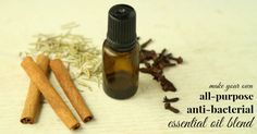 Homemade Protective Essential Oil - Blend 20 drops clove eo, 18 drops lemon eo,         10 drops cinnamon bark eo,         8 drops eucalyptus eo,         5 drops rosemary eo      Combine all oils and store in a dark glass container - feel free to double or triple the recipe.  Ideas for use:      Use in diffuser to purify the air,     Mix into your homemade cleaning products for an extra punch,     Dilute in oil, rub it on the soles of your feet.