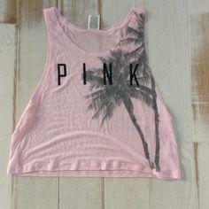 Pink tank Like new PINK Victoria's Secret Tops Tank Tops