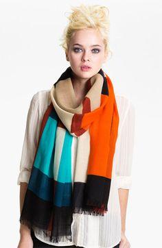 kate spade new york 'piet' plaid wool scarf | Nordstrom