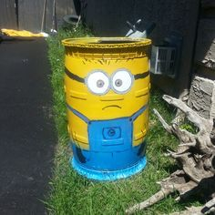 I would use a smooth barrel. I think the design messes up the minion's face