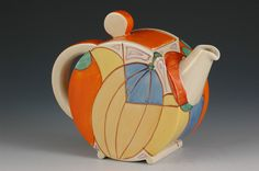 Andrew Muir | Clarice Cliff, Art Deco Pottery, Moorcroft and 20th Century Ceramics Dealer - Melon bonjour teapot