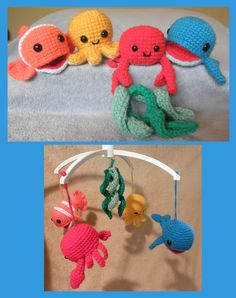 Mobile for Breanna! Underwater Friends Sea Creatures or Mobile  PDF by luvbug026, $5.50