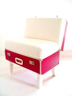 suitcase seat.