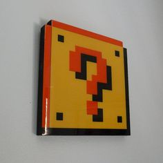 question block  super mario wall art by pixelparty on Etsy, $35.00